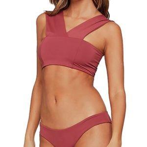 NEW L Space Currant Bikini Top Size L